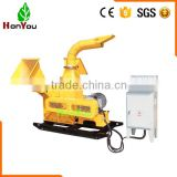 High performance 500mm blade industrial wood shredder chipper for bamboo