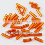 "3"" Glass Bugle Beads, Silver Lined OrangeRed Seed Beads(TSDB6MM29)"
