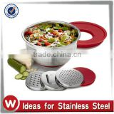 5QT Stainless Steel Mixing bowl with Grater discs                                                                         Quality Choice