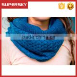 A-821 fashion fall winter knitted round neck scarves crochet cowl neck warmer women knitted loop scarf neck warmer