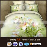 2015 Luxury 3D 133*72 cotton bed linen printing duvet cover set