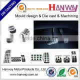 china manufacturer custom made auto spare parts aluminum die casting automobile parts brake pedal