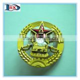 Factory manufacture high quality low price army 3D metal badge &lapel pin badge&button badge