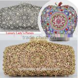 Rhinestone clutch bag handbags purses with flowers Evening Clutch Bag                                                                         Quality Choice