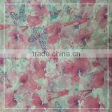100% polyester CREPE chiffon butterfly printed fabric
