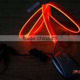 "DC12V sound-control Car seat lighting decoration""Polar light 2""2.2mm Red Single welt EL WIRE"