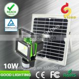 10w led PIR sensor light with solar panel used in yard, floodlight with PIR sensor for outdoor using