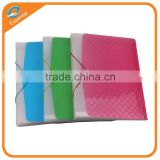Wholesale stationery China factory price PP plastic bag with elastic closure, plastic file bag with elastic strap