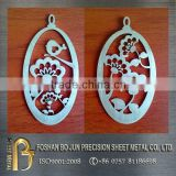 China factory custom laser cut metal ornaments
