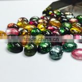 High Quality Natural Multi-Color Calibration Loose stone Tourmaline Cabs
