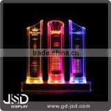 High-end Acrylic beer brand Illuminated Bottle Display