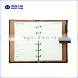 pu leather file Ring Binder folder portfolio with card holder