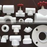 All kinds/types of PPR PIPE FITTING white for water supply/drainage