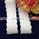 Factory Wholesale Top Quality Cheap 2.5cm Cotton Lace Fabric For Garment Accessories Material in Stock
