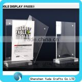 counter top acrylic magnet table display boutique table display stand for restaurant cheap good quality
