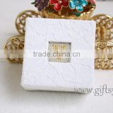 Elegant personalized wedding ring box for ceremony with beaded name plate of Y