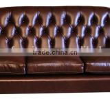 Oxblood Leather Chesterfield Armchair