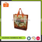 high quality pp webbing strap laminated tote non woven bag wholesale