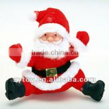 Shenzhen Manufacturer supply wholesale plush santa claus stuffed christmasn decoration toy