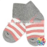 Baby Boys And Girls Yiwu Cotton Sock Print Dots And Stripe Sock Leg Warmer Set