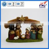 Christmas Nativity Scene Set (Resin) with Holy Family -Mary,Joseph,Baby Jesus in Manger,Wisemen and Stable Creche