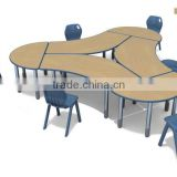 from 56 to 81cm high classroom table and chair for children