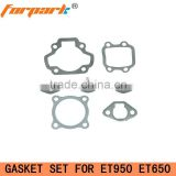 Gasoline Generator Spare Parts ET950 (650) Engine Seal Gasket Set