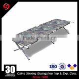Army Folding camping cot double oxford military bed with mosquito net