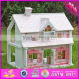 2016 top fashion lovely wooden play house for kids W06A041