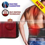 Adjustable Lumbar Lower Back Support Brace - Self-heating Magnetic Therapy Waist Trimmer Belt