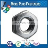 Made in Taiwan Hexagon Jam Nut Metric DIN 936 Class 4 Class 6 Coarse Thread Fine Thread Bare Steel Zinc Plated