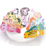 DIY Kids Hair Clips For Girls Animal Pattern Snap Barrette M7043006