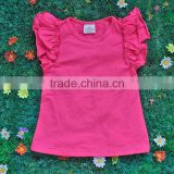 Wholesale persnickety baby girls blank ruffle sleeve t shirt , boutique girls t shirt M5071801