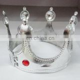 HBN-1441S Plastic king crown tiara for party