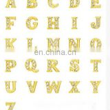 Rhinestone 26 Initial Alphabets Charms DIY Jewelry Findings Crafts For Necklace Bracelet Anklets