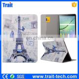 Eiffel Tower Pattern Card Slots Flip Stand TPU+ PU Leather Case for Samsung Galaxy Tab S2 9.7 T810