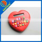 colorful calculator/heart shape calculator for promotion gifts