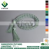 Graduation Green&White Intertwined Honor Cord