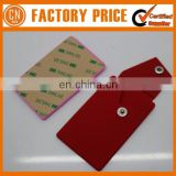 New Arrival Promotional Silicone Phone Pocket With Button