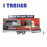 International standard salamander grill fiberglass food van