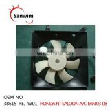 Fits 2003-2008 A/C Condenser Cooling Fan Assembly For HON-DA F-IT SALOON 38615-REJ-W01