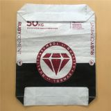 customized 25kg 50kg cement bag dimension block bottom bag