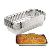 30 Pack Loaf Pans for Baking Bread, Standard Size 8.1\'\'x4.3\'\'x2.2\'\' Cake Pan, Disposable Aluminum Foil Pans, Bread Pans, Meatloaf Pans, Cake Pan, Foil Loaf Pans (670 ML)
