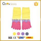New Fashion 1Pair Women Girl Socks Cotton Five Fingers Toe Ankle Socks Candy Colors High Quality