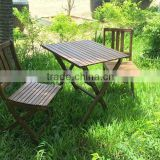 Beautiful wooden bistrol set - acacia folding chair and table for balcony - made in vietnam products