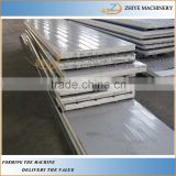 colored steel sandwich panels cold making line /rock wool sandwich roofing tiles rolling forming machine