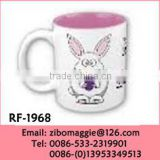 Can Shape Easter Print Wholesale Porcelain Disposable Colored Promotion Milk Mugs Made in Zibo
