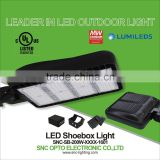 200w led shoe box light with black color for parking lot, factory price led shoe box light, UL listed led light