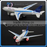 Mini Qute 1:200 kids Die Cast pull back alloy music 777 Air Bus vehicle model car electronic educational toy NO.MQ 777
