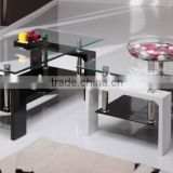 Glass top MDF base Coffee Table square coffee table                                                                         Quality Choice